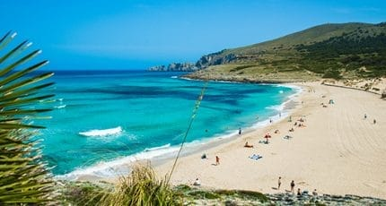 White sandy beach Mallorca
