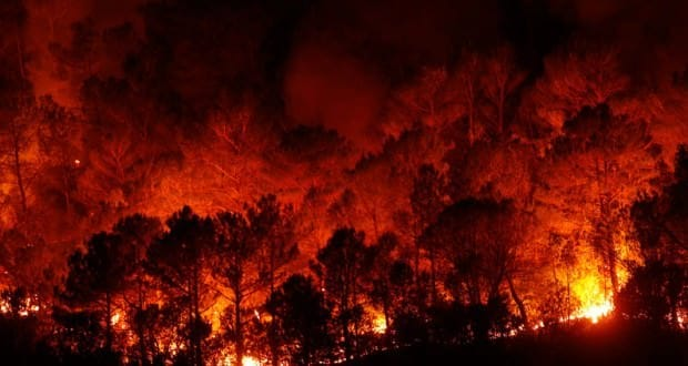 Fires on Mallorca