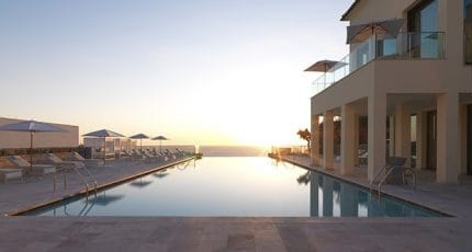 Jumeirah Port Soller Hotel and Spa -  Infinity Pool Sunset - Copy-w