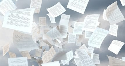 tax papers falling