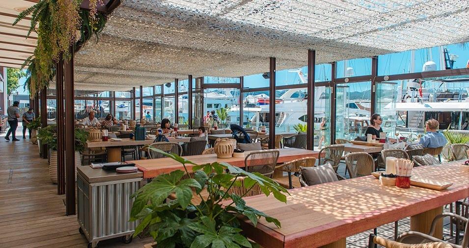 Comida con vistas en el restaurante Arallo